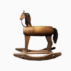 Antikes Schaukelpferd aus Holz