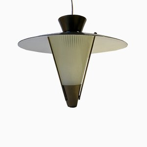 Scandinavian Functionalist Ceiling Lamp, 1940s