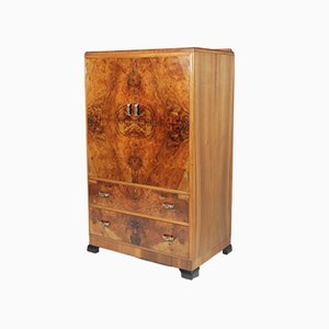 Art Deco Walnut Cabinet, 1930s