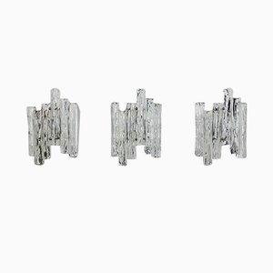 Kalmar Style Glass Sconces, 1960s, Set of 3