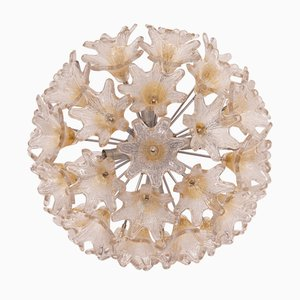 Murano Glass Ceiling Lamp by Toni Zuccheri for VeArt, 1970s