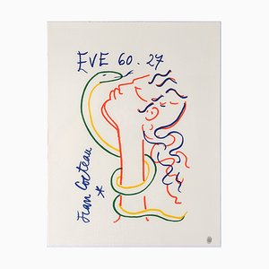 Jean Cocteau, Eve and the Serpent, Lithograph