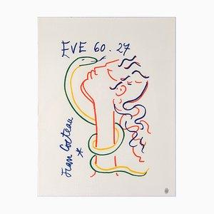 Litografia di Jean Cocteau, Eve and the Serpent