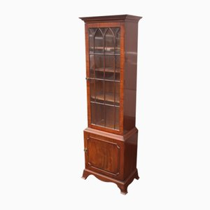 Mahogany China Cabinet with 1 Door, 1960s