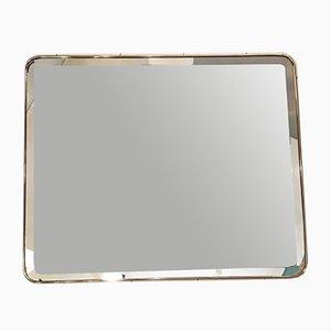 Bevelled Brass Mirror, 1960s