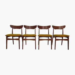 Danish Teak Dining Chairs by Schiønning & Elgaard, 1960s, Set of 4