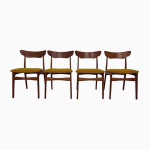 Danish Teak Dining Chairs by Schiønning & Elgaard, 1960s, Set of 4