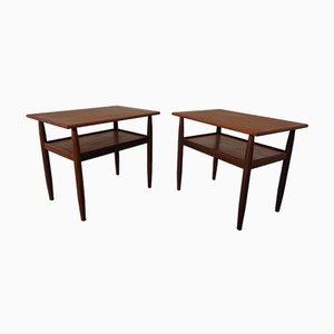 Mid-Century Danish Teak Side Tables, 1960s, Set of 2