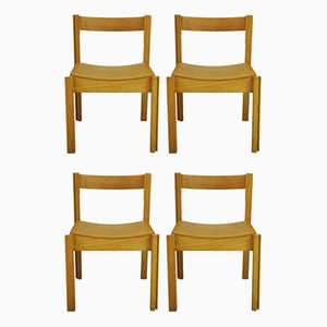 Jigsaw Dining Chairs by Clive Bacon for Design Furnishing Contracts Ltd, 1980s, Set of 4