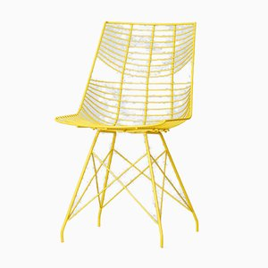 Mid-Century Style Metal Wire Side Chair, 1980s