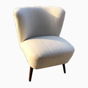 Hungarian White Club Chair, 1950s