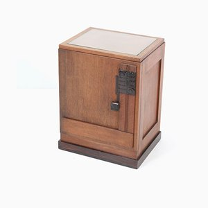 Art Deco Oak Hague School Nightstand, 1920s