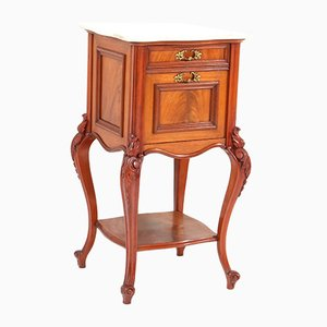 Antique French Louis XV Style Mahogany Nightstand, 1900s
