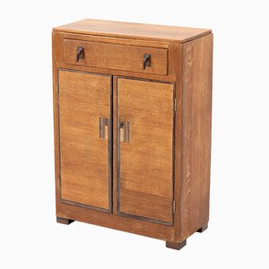 Art Deco Oak Hague School Cabinet by Anton Lucas for N.V. Meubelkunst Leiden, 1920s