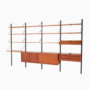 Large Mid-Century Teak Royal Wall Units by Poul Cadovius for Royal, 1950s, Set of 21