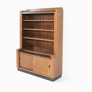 Art Deco Oak Hague School Cabinet by Cor Alons for L.O.V. Oosterbeek, 1920s