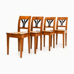 Austrian Biedermeier Dining Chairs, Early 19th Century, Set of 4