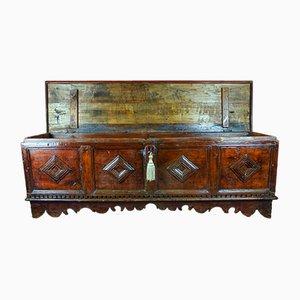 Cassettiera in legno di noce massiccio, Italia, fine XIX secolo