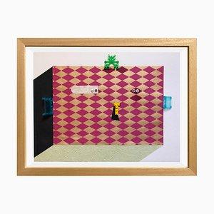 The Cubist di Raluca Arnăutu, Collage on Paper