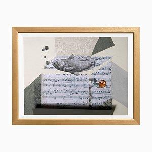The Music Box di Raluca Arnăutu, Collage su carta