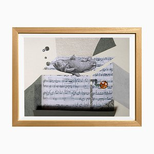 The Music Box von Raluca Arnăutu, Collage on Paper