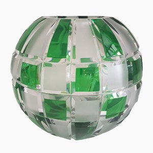 Cut Crystal Globe Vase, 1930s