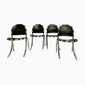 Medusa Stühle aus Silber von Studio Tetrark, Italien, 1960er, 4er Set