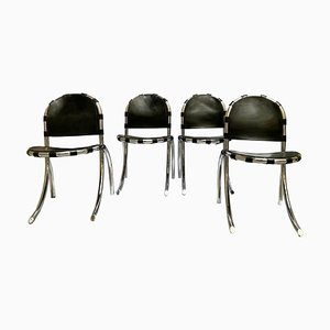 Silver Metal Medusa Chairs from Studio Tetrark, 1960s, Italy, Set of 4