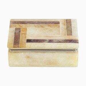 Italian Alabaster Trinket Box, 1970s