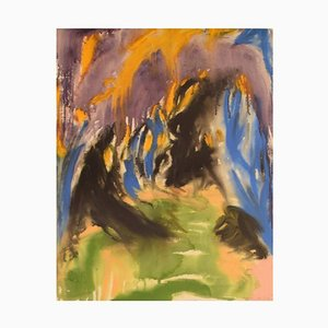 Ivy Lysdal, Gouache auf Papier, Abstract Modernist Painting, 1992