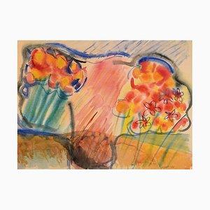 Ivy Lysdal, Gouache auf Papier, Moderne Malerei, 1986