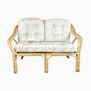 Vintage Rattan 2-Seater Sofa