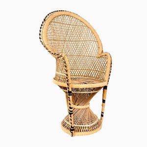 Vintage Rattan Children's Peacock Chair