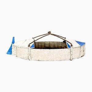 Französischer Antiker Holz Schaukelboot-Rummelplatz