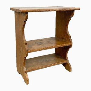 Antique Pine Wooden Shelf Etagere