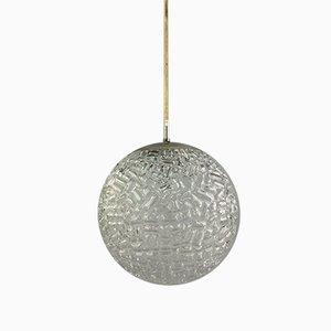 Glass Ball Hanging Lamp, 1970s
