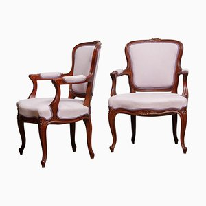 Pink Swedish Bergère Chairs, 1950s, Set of 2