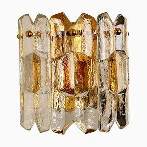 Palazzo Wandlampe aus Vergoldetem Messing und Glas von JT Kalmar