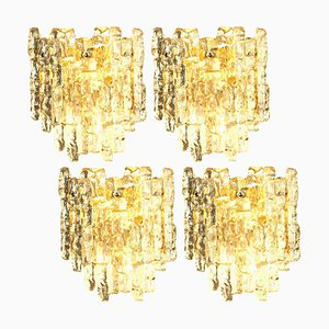 Ice Glass Wall Sconce by J. T. Kalmar from Kalmar, Austria, 1970s