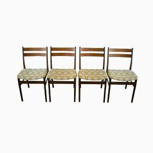 Teak Esszimmerstühle aus Dänemark, 1970er, 4er Set