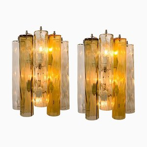 Large Wall Sconces / Wall Lights in Murano Glass by Barovier & Toso, Set of 2