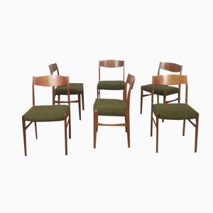 Dänische Teak Esszimmerstühle von G. S. Glyngore Stolefabrik, 1960er, 6er Set