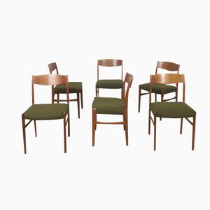 Danish Teak Dining Chairs from G. S. Glyngore Stolefabrik, 1960s, Set of 6