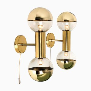 Brass Wall Lamps by Motoko Ishii for Staff, 1970s, Set of 2