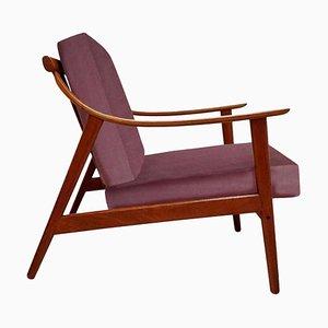 Danish Easy Chair in Lelievre Velvet, 1960s