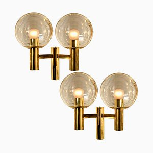 Wall Lights in the Style of Hans-agne Jacobsson, Sweden, 1960s, Set of 2