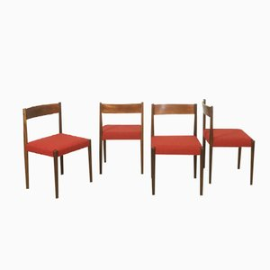 Walnut Dining Chairs by Poul Volther for Frem Rojle, Set of 4