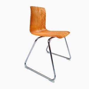 Vintage Dutch Industrial Stacking Chair from Galvanitas
