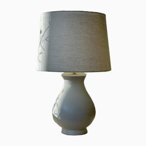 Carrara Ceramic Table Lamp by Wilhelm Kage, 1940s