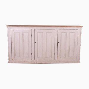Three Door Painted Linen Cupboard, 1890s